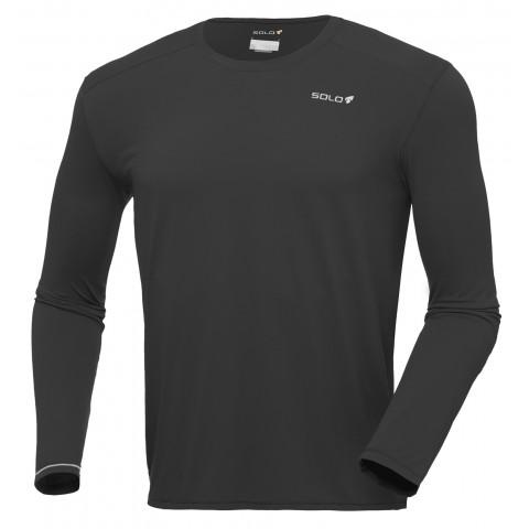 Camiseta Ion UV M/L masculina - Cor Preto - SOLO